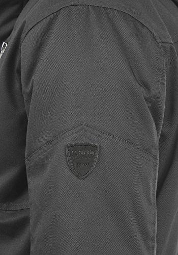 SOLID Wallace Herren Jacke Winterjacke mit Stehkragen und Kapuze aus hochwertiger Baumwollmischung Dark Grey (2890)