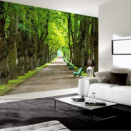 UPINT Custom Tapete Frische Und Einfache Und Schöne Schöne Bäume Schatten Avenue Wandmalereien Tv Wand Dekoration -