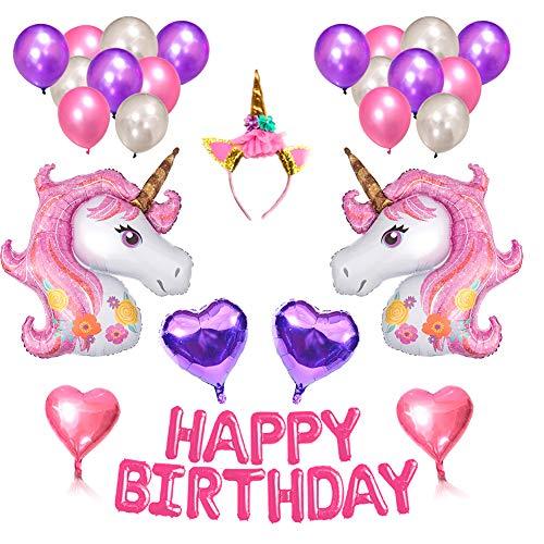 tion Ballons Alles Gute zum Geburtstag Set Happy Birthday Party Supplies für Infant Mädchen Boy Lady Kinder Erwachsene Geburtstagsparty (D) ()