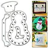 Troqueles Scrapbooking, Muñeco de Nieve de Navidad Plantillas de Troqueles de Corte Tarjeta de DIY Papel Álbumde Recortes Decoración Regalo Artesanal