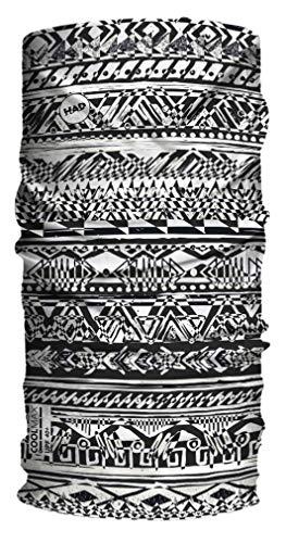 HAD COOLMAX Multifunktionstuch mit Sonnenschutz UPF 40+ Mosaik, schwarz/weiß, Polyester, one size -