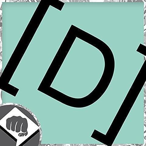 [D] ALEMANIA Código de país - Pegatinas Bomba Pegatina - DUB DUBWAY - blanco