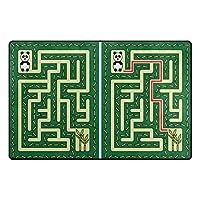 Orediy Soft Rugs Panda Maze Lightweight Area Rugs Kids Playing Floor Mat Non Slip Doormat Nursery Rug for Living Room Bedroom