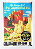 The Bryce Canyon- Retro Style Travel Poster Large Cotton Tea Towel