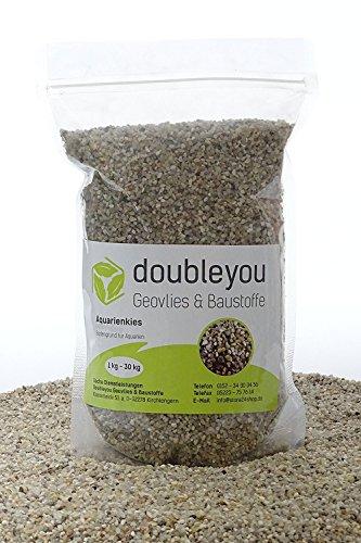 1 kg to 25kg Aquarium Gravel Grain Size 2-3mm–Made in Germany–Quartz Sand–Round 1