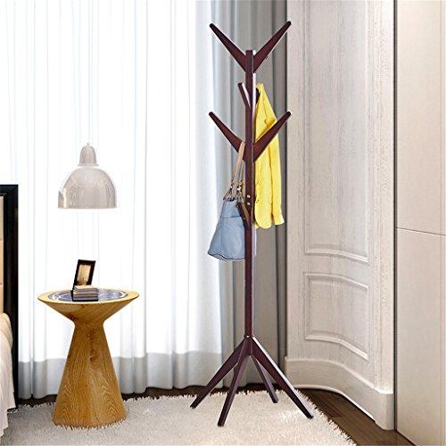 Holz Kleiderständer Rail Rack Mit 8 Haken Jacke Regenschirm Handtasche Hut Kleidung Lagerung Hängende Veranstalter Halter,A,40*40*162Cm