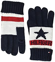 Tommy Hilfiger Boy's Kids Hilfiger Logo Gloves, Multicoloured (Corporate Clrs 901), One Size