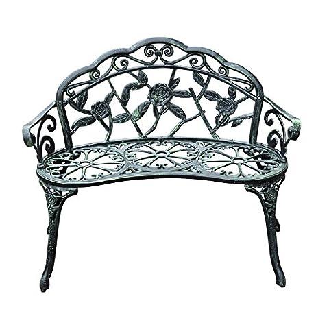 Outsunny® Gartenbank Parkbank Sitzbank Bank Gartenmöbel 2-Sitzer Metall (Modell 3)