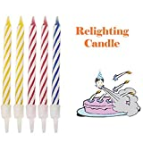 Vovotrade Magic Trick Relight Anniversaire Bougie 10 Pièce Naughty Party Blague...