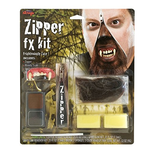 Deluxe Zipper Werwolf Makeup ()
