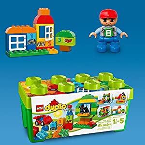 LEGO 10572 DUPLO Box of Fun with Storage Box, All-in-1 Creative Building Bricks from LEGO