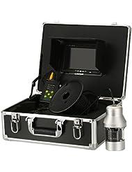 Lixada 1000TVL Caméra de Pêche Sous-Marine Portable étanche 18 LEDs 360 degrés de rotation Caméra Finder 7 pouces moniteur LCD 20m / 50m / 100m câble