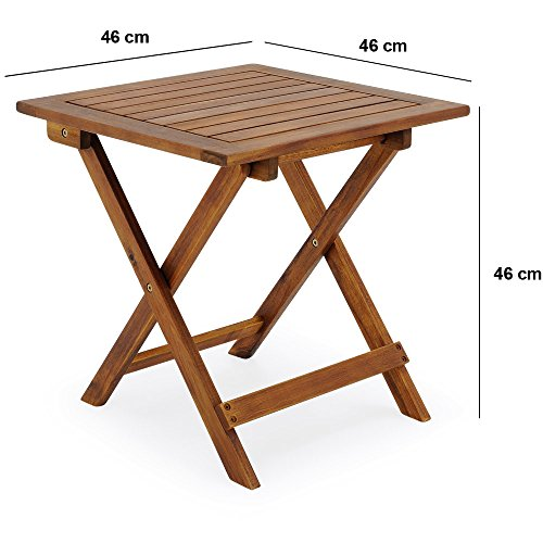 Low Table Snack Table Side Table Bistro Coffee Table Small Table Furniture Tropical Acacia Wood