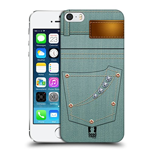 Head Case Designs Stiloso Uomo Tasche Jeans Cover Retro Rigida per Apple iPhone 7 Plus / 8 Plus Turchese Donna