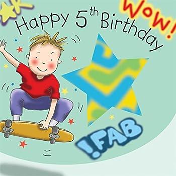 twizler 5. Geburtstag für Jungen, mit Skateboard – Fünf