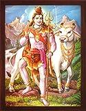 HandicraftStore Lord Shiva mit Seiner Kuh Nandi und Seine