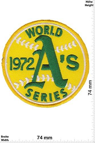 Patch-Iron-1972 World Series - Baseball A's - USA - Motorsport - Sport - Sport USA - - Iron On Patches - Aufnäher Embleme Bügelbild Aufbügler (World Series Patch -)