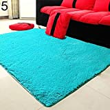 gongxi 2017 New Candy Color Soft Antiscivolo Moquette Flokati Shaggy Tappeto Living Room Tappetino 169WG0729 @ Sky_Blue_400mm_x_600mm