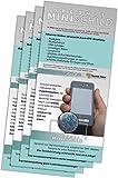 Mini-bouclier en orgonite (lot de 4) - Protection contre les ondes électromagnétiques pour téléphones portables