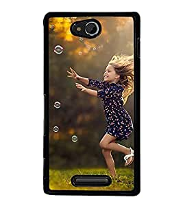 PrintVisa Designer Back Case Cover for Sony Xperia C S39h :: Sony Xperia C C2305 (amazing playing refresh lady girl)
