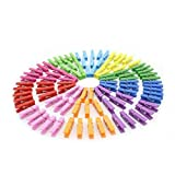 #7: Generic 50Pcs Mixed Color Mini Wooden Clothes Photo Paper Peg Clothespin Craft Clips…-55004381MG