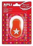 APLI Kids 13298 - Perforadora especial goma EVA figura estrella, 25.4 mm