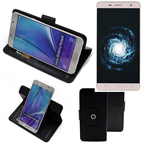 K-S-Trade® Hülle Schutzhülle Case Für -Cubot H1- Handyhülle Flipcase Smartphone Cover Handy Schutz Tasche Bookstyle Walletcase Schwarz (1x)