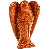 Winmaarc weiße Jade-Marmor Engel Edelstein Figur spritual Angel Reiki Heilung, Stein, Golden Sandstone, 7,6 cm preisvergleich bei billige-tabletten.eu
