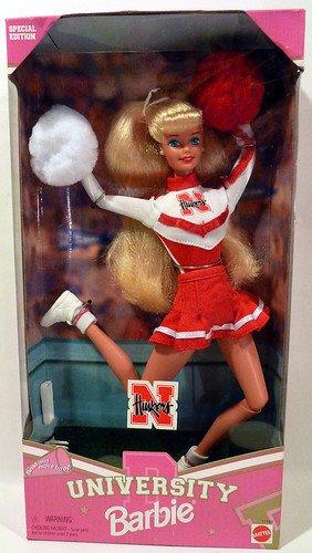 Nebraska Cornhuskers University Barbie Cheerleader Nebraska University