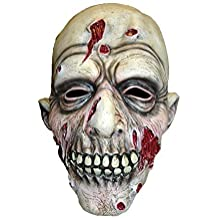 Latex Full Head Overhead Halloween Horror Masks Fancy Dress Up Full Face Mask (Dead Like Fred Zombie Mask) by WF