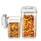 luftdichte behälter - Multifunktionsbox - ANKOU Vorratsdosen Kunststoff - BPA-freie Frischhaltedosen - Dosen Behälter zur Aufbewahrung von Mehl, Zucker, Nudeln (AS 2 L + 0.9 L)