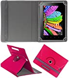 DMP 360 Degree Rotating Leather Flip Case Book Cover With Stand For Samsung Galaxy Tab 4 T231 – Dark Pink