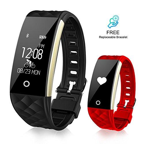 Pulsera Actividad con GPS Pulsera Inteligentes con Pulsómetro VeiMiues, con Monitor de Ritmo Cardíaco Monitor de Sueño y Calorías, Pulsera Deportiva Impermeable 67 con Podómetro para IOS y Android