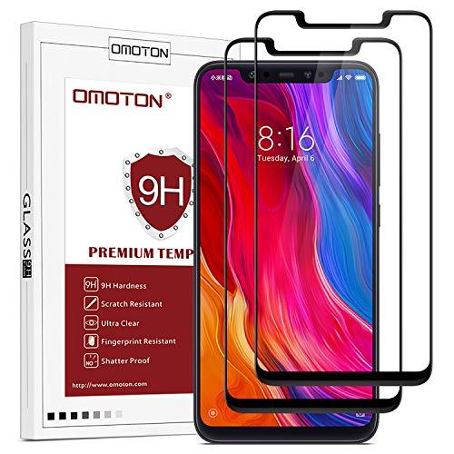 OMOTON Xiaomi Mi 8 Protector Pantalla Mi 8 Cristal Templado...