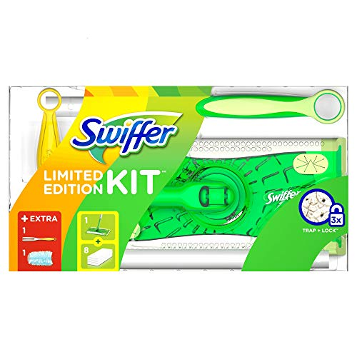 Swiffer Limited Edition Set (1Bodenwischer und 8Boden-Staubtücher und 1Staubmagnet und 1Tuch) 1er Pack