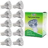 10X GU10 Ampoule LED 3W Haute Puissance Ampoule Lampe Blanc Chaud 250LM Faible Consommation Lumiere LED Remplacement à l'halogène AC85-265V
