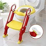 Sinbide Toiletten-Trainer Kinder Kinder Toilettensitz Trainer Töpfchen WC-Sitz für Kinder von 1-7 Jahren (Rot und Gelb)