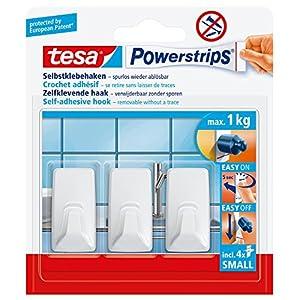 Tesa Powerstrips Haken (Small eckig) weiß