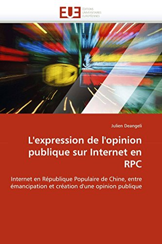 L''expression de l''opinion publique sur internet en rpc
