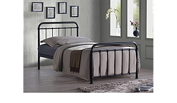 Fresh Black Miami Traditional Hospital Style Bed Frame 3FT Single Metal Bed Frame Amazon Kitchen & Home Simple Elegant - Contemporary white metal bed frame Simple