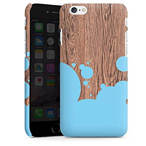 Apple iPhone X Silikon Hülle Case Schutzhülle Holz Kleckse Farbe Premium Case matt