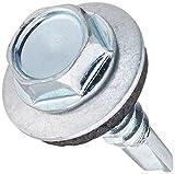 Die Hillman Gruppe 56102510–16x 3/4-Zoll Waschmaschine Head Neopren Waschmaschine selbst Bohren Schraube, 100Stück