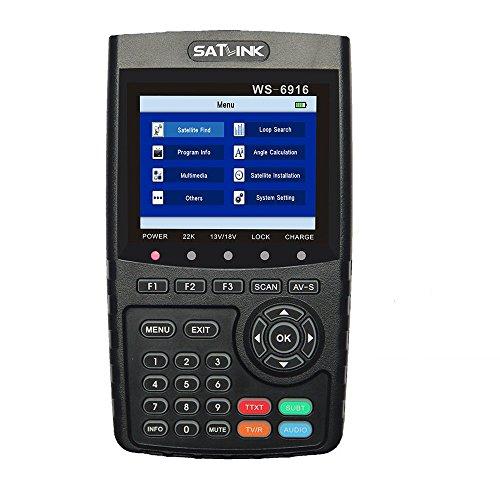 Satlink WS 6916HD–Medidor de campo para satélite HD DVB-S2puntero...