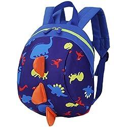 mochilas escolares juveniles niña Switchali bolsas escolares moda Animales de patrón de dinosaurio Mochila escolares niño mochilas mujer casual Mochila bolsas deporte viaje (Azul oscuro)
