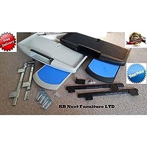gris sous bureau plateau pour clavier d 39 ordinateur avec souris pad tiroir coulissant tag re. Black Bedroom Furniture Sets. Home Design Ideas