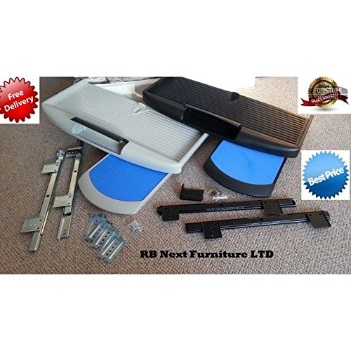 Grau unter Schreibtisch Computer Tastatur Tablett mit Maus Pad, Schublade, Regal (Unter Schreibtisch Tastatur-regal)