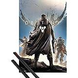 Poster + Hanger: Destiny Poster (91x61 cm) Key Art Inklusive Ein Paar 1art1® Posterleisten, Schwarz