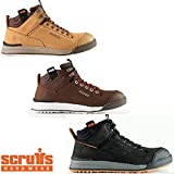Scruffs SWITCHBACK Lightweight S3 Rated Safety Hiker Boot Tan/Black/Brown (Sizes 7-12)