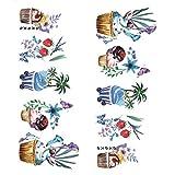 Fansi Fansi 5 Blatt Nagel Kunst Dekoration Sticker Dekor Nail Art Sticker Mode Wasserdichter Aufkleber Manicure Accessoires Selbstklebend Nagel Spitze Dekoration Muster Tattoo Aufkleber