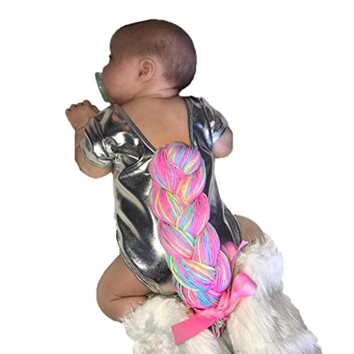 6-24 Monate Kleinkind Kinder Strampler, DoraMe Neugeborenen Baby Jungen Mädchen Tier Cartoon Jumpsuit Unisex Zopf Geflochtene O-Ausschnitt Overall (Silber, 24 Monate) (Zöpfe Strickjacke)